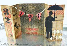 Stamptramp: Grungy Gatefold Birthday Card