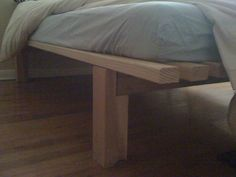 homemade bed and IKEA mattress