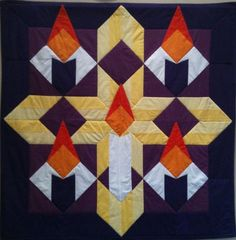 Quilted wall hanging used during Advent at the Episcopal Church of the Holy Apostles, Hoover, Alabama. (Photo by Bruce Klaiss)