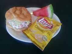Try our delicious Seafood Salad on a croissant.