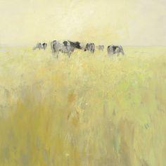 Cows in Spring Art Print by Jan Groenhart