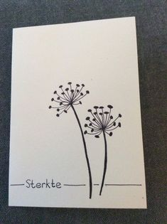 sterkte, rouwkaart Cute Cards, Diy Cards, Hand Made Greeting Cards, Paint Cards, Happy Paintings, Cards For Friends, Doodle Drawings, Planner, Watercolor Cards