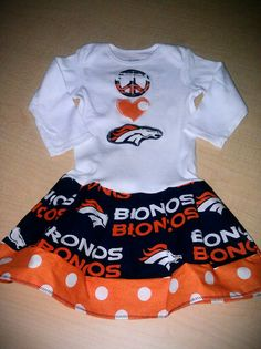 744379e8dbc Peace Love Broncos Baby Infant Toddler Girls Tshirt Onesie Dress Denver  Broncos Other Teams Available Sizes NB-5T FREE SHIPPING