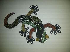 Lagartijas pintadas en puntillismo - Imagui