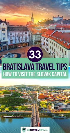 The Beauty on the Danube is an unspoiled gem in the heart of Europe. These 33 Bratislava travel tips will make sure you know how to best plan your visit. | Visit Bratislava Slovakia | Bratislava Travel Guide | Things to do in Bratislava Europe Travel Outfits, Top Travel Destinations, Europe Travel Guide, Travel Info, Travel Abroad, Travel Usa, Travel Ideas, Travel Inspiration, Estonia Travel