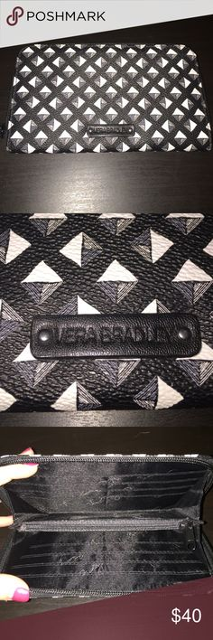 Vera Bradley Leather Wallet Brand new, never used Vera Bradley leather wallet. Black and white pattern, received as a gift and never used. Vera Bradley Bags Wallets