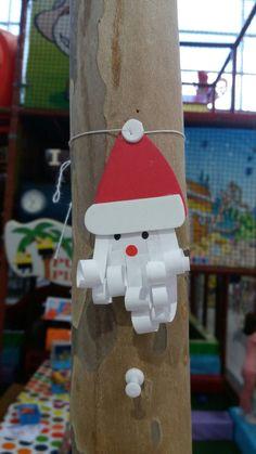 Papá Noel fácil con goma Eva