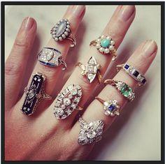 See our Vintage Jewelry collection at Benson Diamond Jewelers, Westland MI   www.bensondiamondjewelers.com