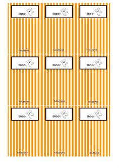 Gratis print - Halloween etiketter cellofangodteposer =) ToneroseDesign