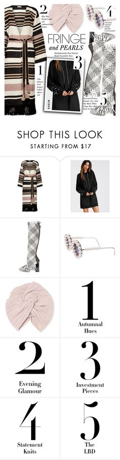 """Shimmy Shimmy: Fringe"" by merrygorounds ❤ liked on Polyvore featuring Ulla Johnson, Proenza Schouler, Chanel, Miu Miu, fringe, pearls, polyvoreeditorial and shein"