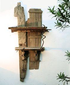 photos of driftwood | Julia's Driftwood Furniture Driftwood Shelf 01