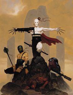 The Dark Fantasy art of Gerald Brom or just simply Brom. Fantasy Posters, Fantasy Artwork, Comic Kunst, Comic Art, Dark Sun, Character Art, Character Design, Bild Tattoos, Kunst Poster