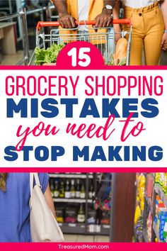 You need to stop making these 15 grocery shopping mistakes if you want to save money on groceries. These mistakes will keep you from sticking to your budget and will waste your money. Save Money On Groceries, Ways To Save Money, Money Tips, Money Saving Tips, Groceries Budget, Planning Budget, Meal Planning, Get Cash Fast, Get Out Of Debt