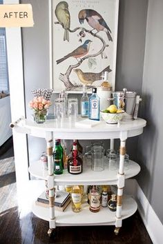 Haley Beham, I love your bar cart make over! Perfect bday gift for my hubby.