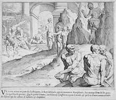 Antiphates devours a crewman  17th century etching  Theodor van Thulden (1606 - 1669)  Fine Art Museum San Francisco Museum Of Fine Arts, Art Museum, Homer Odyssey, Greek And Roman Mythology, 17th Century, Art Reference, San Francisco, Illustrations, Prints