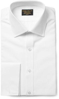 Emma Willis White Double-Cuff Cotton Shirt sur shopstyle.fr