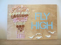 "Air balloon ""Fly high"" Flock of birds"