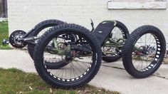 OOOOH! A NEW toy! Daddy want.  Army Green Quad: Custom Catrike Cat-4 Quad by UT Custom from Utah Trikes