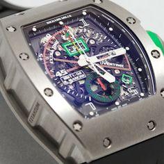 #RichardMille RM11-01RG #RobertoMancini #Chronographe #Flyback => Call for price: 561 247-0078