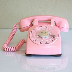 pink desk telephone for the great room for Willow to see because its her favourite colour.