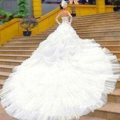 long train wedding dress