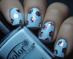 nail loopy: SPRING FLOWER GLEQUIN NAILS