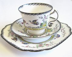 Vintage Hand Painted Tea Trio Melba Rose by TheWhistlingMan,SOLD