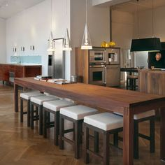 that are eco-friendly kitchen options. This kitchen design uses all wood that is FSC certified from Danish Hardwood. This kitchen design has also natural oil and soap finishes. Dining Table In Kitchen, Kitchen Design, Kitchen Plans, Kitchen Dinette Sets, Kitchen Table, Modern Dining, Kitchen Island Dining Table, Kitchen Dining Furniture, Trendy Kitchen