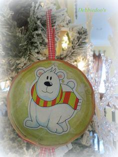 Jar lid xmas ornament craft