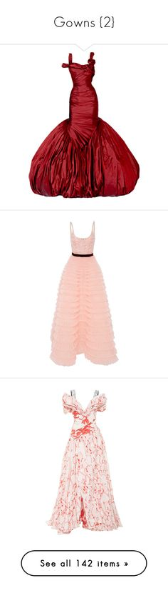 """""""Gowns {2}"""" by delamole ❤ liked on Polyvore featuring dresses, gowns, long dresses, alexander mcqueen, alexander mcqueen dresses, long red dress, red evening dresses, alexander mcqueen evening dresses, long red evening dress and pink"""