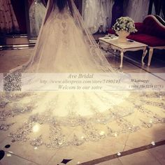 Cheap veil fascinator, Buy Quality accessories board directly from China veil bridal Suppliers: New 3.5m Long Wedding Veil 2016 White Ivory Sequins Bling Sparkling Crystal veu de noiva longo com renda wedding access