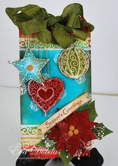 Spellbinders Layered Poinsettia dies