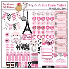 SALE Paris Printable Planner Kit in Pink & by DigiScrapDelights -Freebies at BibleJournalLove.com- #pink #black #paris #freebies #printable #plannerlove #planneraddict #plannerstickers #diy