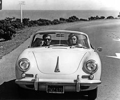"#JacquelineBisset -- #SteveMcQueen in ""Bullit"" by #PeterYates 1968 -- #Porsche 356"