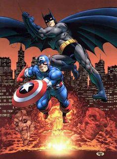 Captain America & Batman by John Byrne