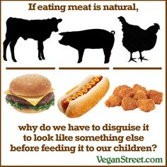 If eating meat is natural...