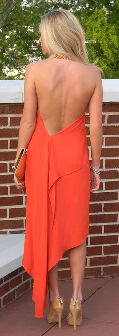 bright - orange. Love the dress