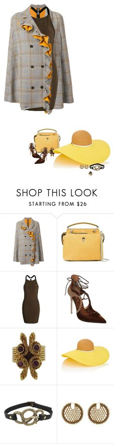 """Unbenannt #1357"" by herzblut1 ❤ liked on Polyvore featuring MSGM, Fendi, Boohoo, Le Silla, Zolotas, Eugenia Kim, Betsey Johnson and Oscar de la Renta"