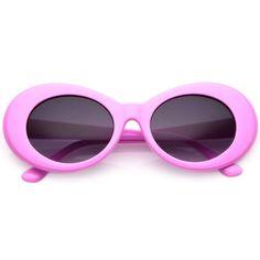 SuperEyewear Kurt Cobain 90s-Style White Oval Sunglasses Women Retro Vintage S