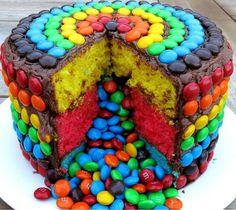 Cake & M&M's...yummy!