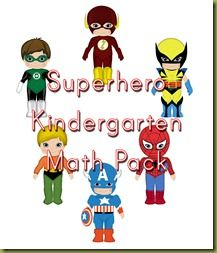 Superhero PreK Pack and Kindergarten Math Pack for free download!