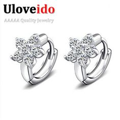 Find More Stud Earrings Information about Fashion Flower Crystal Earrings for Women White Stones Jewelry Vintage Assessories Brincos Bijoux Femme 2015 Gifts Ulove Y045,High Quality earring bails,China earrings ice Suppliers, Cheap earrings antique from ULOVE Fashion Jewelry on Aliexpress.com