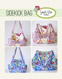 Sweet Pea Totes Sidekick Bag - Sewing Ebook and Pattern
