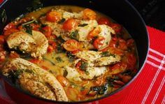 Tomato Basil Chicken Recipe - 3 Points+ - Weight Watchers Recipes
