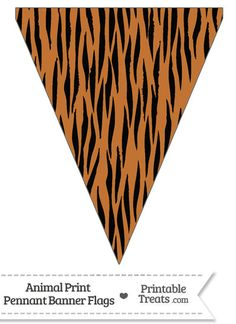 Here is a cute tiger print pennant banner flag you can use to decorate your home or classroom for a birthday celebration. This tiger print pennant banner flag is decorated with a pattern of Safari Party, Safari Theme Birthday, Jungle Theme Parties, Zoo Birthday, Jungle Party, Jungle Decorations, Safari Cakes, Pennant Banners, Cat Party