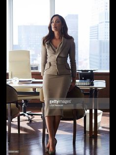 """""""Sarah Rafferty and Gina Torres Donna Paulsen and Jessica Pearson """" Business Fashion, Lawyer Fashion, Business Mode, Corporate Fashion, Business Chic, Business Outfits, Corporate Style, Corporate Outfits, Power Dressing"""
