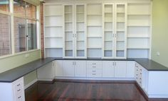 sewing room office with built in - Google Search