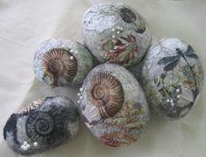 felt rock, pebble, pin cushion