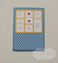 Babykarte für einen kleinen Jungen