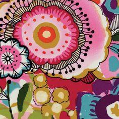 Alexander Henry House Designer - Larkspur - Larkspur In Bloom in Brite